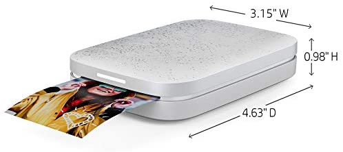 """410rsh0LfrL. AC  - HP Sprocket Portable 2x3"""" Instant Photo Printer (Luna Pearl) Print Pictures on Zink Sticky-Backed Paper From Your iOS & Android Device"""