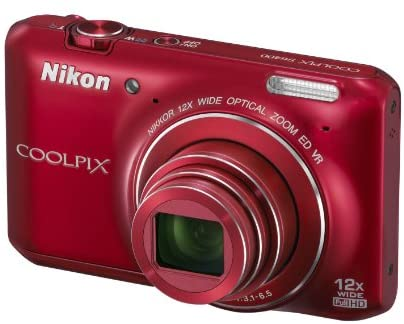 4139GFoljSL. AC  - Nikon COOLPIX S6400 16 MP Digital Camera with 12x Optical Zoom and 3-inch LCD (Red)