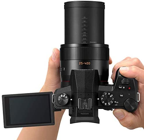 413Y3P+fsGL. AC  - Panasonic Lumix FZ1000 II 20.1MP Digital Camera, 16x 25-400mm Leica DC Lens Point and Shoot Camera with Memory Card, Bag, Spare Battery and More