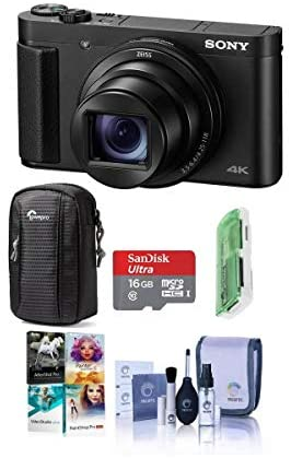 419Yu sk8eL. AC  - Sony Cyber-Shot DSC-HX99 18.2MP Compact Digital Camera with ZEISS 24-720mm Zoom Lens, Black - Bundle with Camera Case, 16GB MicroSDHC Card, Cleaning Kit, Card Reader, PC Software Package
