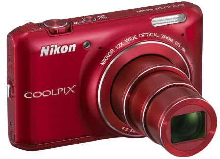 41A9tOWhtnL. AC  - Nikon COOLPIX S6400 16 MP Digital Camera with 12x Optical Zoom and 3-inch LCD (Red)