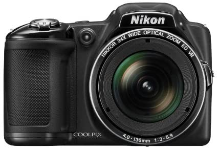 41Blpj1s5SL. AC  - Nikon COOLPIX L830 16 MP CMOS Digital Camera with 34x Zoom NIKKOR Lens and Full 1080p HD Video (Black) (Discontinued by Manufacturer)