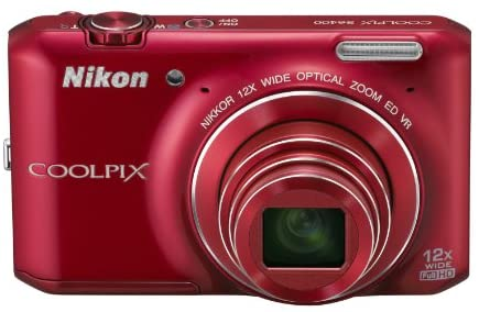 41E lSt28ZL. AC  - Nikon COOLPIX S6400 16 MP Digital Camera with 12x Optical Zoom and 3-inch LCD (Red)