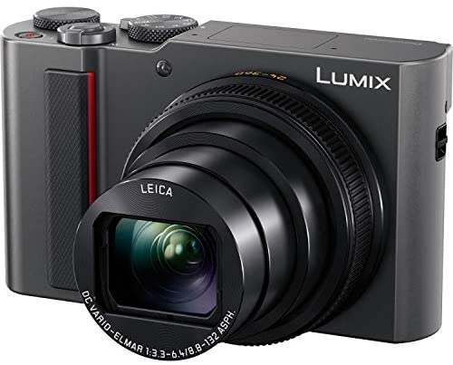 41Ggm4XAZ1L. AC  - Panasonic Lumix DC-ZS200S Digital Camera (Silver) with 64GB Memory Card, Tabletop Tripod, Camera Case, Flash, Cleaning Kit, Battery, Charger Kit and More