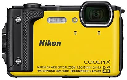 41IwijY3auL. AC  - Nikon Coolpix W300 Point & Shoot Camera, Yellow - Bundle with 16GB SDHC Card, Camera Case, Cleaning Kit, PC Software Package