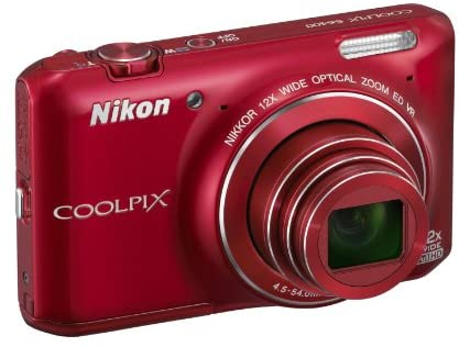 41JRxzFMdQL. AC  - Nikon COOLPIX S6400 16 MP Digital Camera with 12x Optical Zoom and 3-inch LCD (Red)