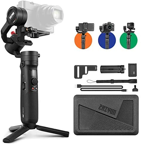 41JqOzVsDqL. AC  - Zhiyun Crane M2 Crane-M2 Gimbal [Official Dealer], 3 Axis Handheld Gimbal for Mirrorless Cameras/Smartphone/Action Cameras for Sony A6000/A6300/A6400/A6500/Canon M6/G7 X Mark II, for GoPro Hero 7/6/5