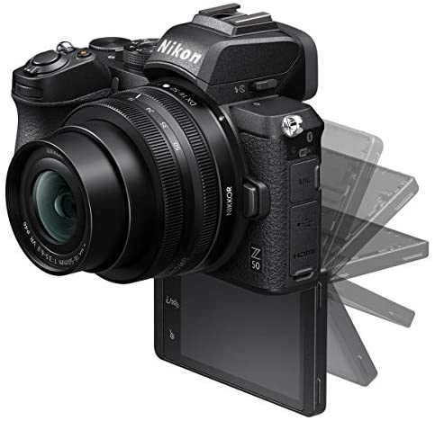 41NNCWIBN4L. AC  - Nikon Z 50 DX-Format Mirrorless Camera with 16-50mm f/3.5-6.3 VR Lens, Bundle with FTZ Mount Adapter and Accessories