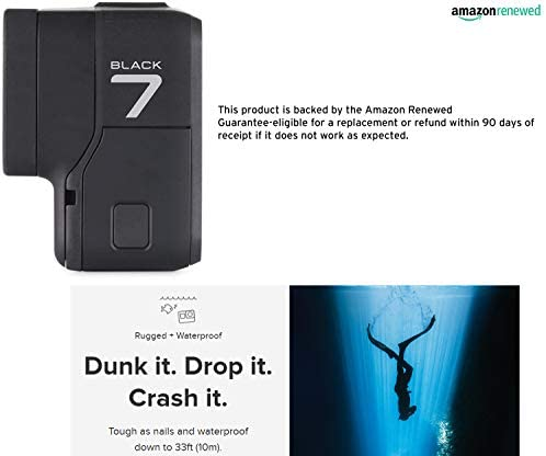 41OCcTOUKUL. AC  - GoPro HERO7 Black Waterproof Digital Action Camera with Touch Screen 4K HD Video 12MP Photos Live Streaming Stabilization (Renewed)