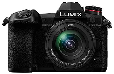 41Og6fN9xlL. AC  - Panasonic LUMIX G9 Mirrorless Camera with LUMIX G Vario 12-60mm Lens with 128GB UHS-II V60 SD Card and KOAH Pro Complete Accessory Starter Bundle (6 Items)