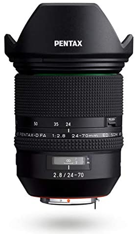 41SHKSU5GdL. AC  - HD PENTAX-D FA 24-70mmF2.8ED SDM WR High-performance standard zoom lens 24mm ultra-wide angle Weather-resistant construction Exceptional imaging power ED Glass Aspherical lens Latest lens coating