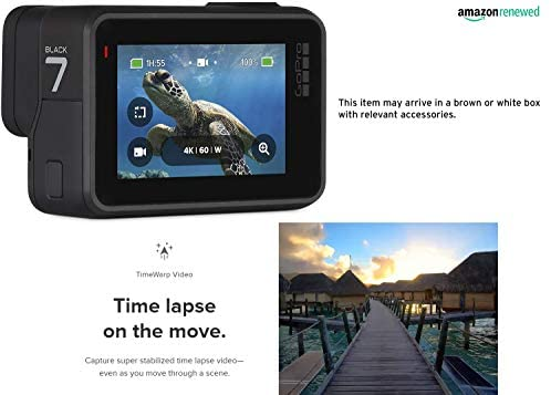41Sm7DLwH4L. AC  - GoPro HERO7 Black Waterproof Digital Action Camera with Touch Screen 4K HD Video 12MP Photos Live Streaming Stabilization (Renewed)