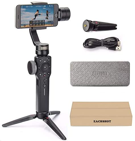 41UAEYMUovL. AC  - Zhiyun Smooth 4 3-Axis Handheld Gimbal Stabilizer with Grip Tripod for iPhone 12 11 Pro Xs Max Xr X 8 Plus 7 6 SE Android Cell Phone Smartphone YouTube Vlog Live Video Kit