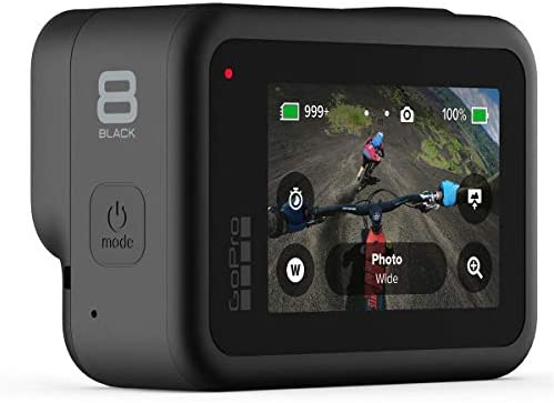 41UmmpJtChL. AC  - GoPro HERO8 Black, Waterproof Digital Sports and Action Camera with Touch Screen 4K UHD Video 12MP Photos, Power Bundle with Dual Charger, 3 Batteries, 128GB microSD Card, Cleaning Kit