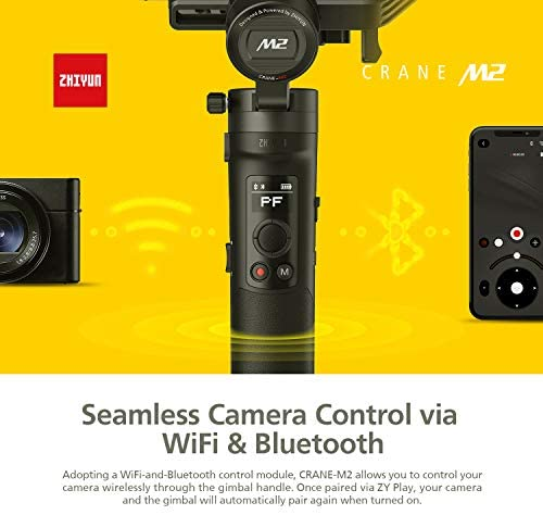 41VsrwWiTXL. AC  - Zhiyun Crane M2 Crane-M2 Gimbal [Official Dealer], 3 Axis Handheld Gimbal for Mirrorless Cameras/Smartphone/Action Cameras for Sony A6000/A6300/A6400/A6500/Canon M6/G7 X Mark II, for GoPro Hero 7/6/5