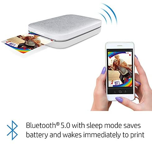 """41XJLBIE3IL. AC  - HP Sprocket Portable 2x3"""" Instant Photo Printer (Luna Pearl) Print Pictures on Zink Sticky-Backed Paper From Your iOS & Android Device"""
