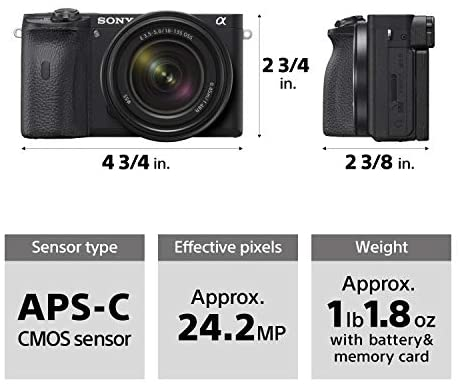 41XkP21pYPL. AC  - Sony Alpha A6600 Mirrorless Camera with 18-135mm Zoom Lens