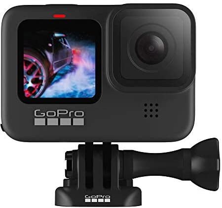 41baDP4urcL. AC  - GoPro HERO9 Black, Waterproof Action Camera, 5K/4K Video, Starter Bundle with Extra Battery, Floating Hand Grip, 32GB microSD Card, Card Reader