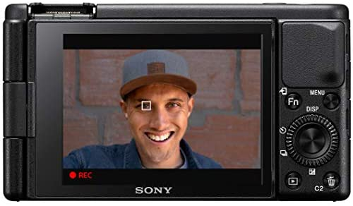 41e01v68PWL. AC  - Sony ZV-1 Compact Digital Vlogging 4K HDR Video Camera for Content Creators & Vloggers DCZV1/B Bundle with Deco Gear Case + Software Kit + 64GB Card + Compact Tripod/Handheld Grip and Accessories