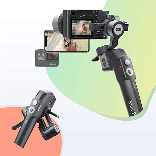 41eWncpLsaL. AC  - MOZA Mini P Gimbal Stabilizer Handheld 3 Axis Gimbal 4-in-1 for Mirrorless&Compact Camera for iPhone Android Smartphone for Action Camera GoPro up to 1.98Lb Payload