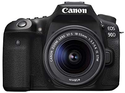 41gFHn06dML. AC  - Canon DSLR Camera [EOS 90D] with EF-S 18-55 is STM Lens Kit, Built-in Wi-Fi, Dual Pixel CMOS AF and 3.0-inch Vari-Angle Touch Screen, Black