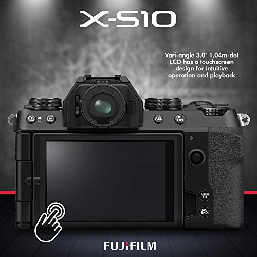 41h3ZO78tLL. AC  - Fujifilm X-S10 Mirrorless Digital Camera Body with Sleek Design Accessories Deluxe Bundle with 64GB SD Card, Case, Monopod, Card Reader and More