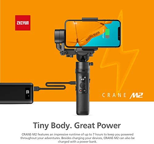 41hxuiHaVhL. AC  - Zhiyun Crane M2 Crane-M2 Gimbal [Official Dealer], 3 Axis Handheld Gimbal for Mirrorless Cameras/Smartphone/Action Cameras for Sony A6000/A6300/A6400/A6500/Canon M6/G7 X Mark II, for GoPro Hero 7/6/5