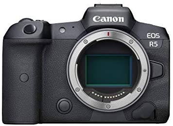 41nJJpn0IOL. AC  - Canon EOS R5 Full-Frame Mirrorless Camera with 8K Video, 45 Megapixel Full-Frame CMOS Sensor, DIGIC X Image Processor, Dual Memory Card Slots, and Up to 12 fps Mechnical Shutter, Body Only