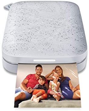 """41nv181F7rL. AC  - HP Sprocket Portable 2x3"""" Instant Photo Printer (Luna Pearl) Print Pictures on Zink Sticky-Backed Paper From Your iOS & Android Device"""