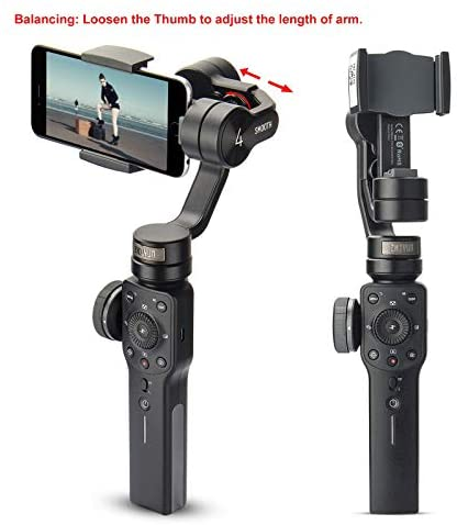 41rXXWC481L. AC  - Zhiyun Smooth 4 3-Axis Handheld Gimbal Stabilizer with Grip Tripod for iPhone 12 11 Pro Xs Max Xr X 8 Plus 7 6 SE Android Cell Phone Smartphone YouTube Vlog Live Video Kit