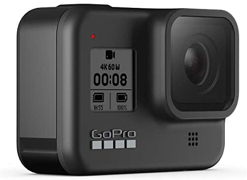 41sL+j2kPnL. AC  - GoPro HERO8 Black, Waterproof Digital Sports and Action Camera with Touch Screen 4K UHD Video 12MP Photos, Power Bundle with Dual Charger, 3 Batteries, 128GB microSD Card, Cleaning Kit