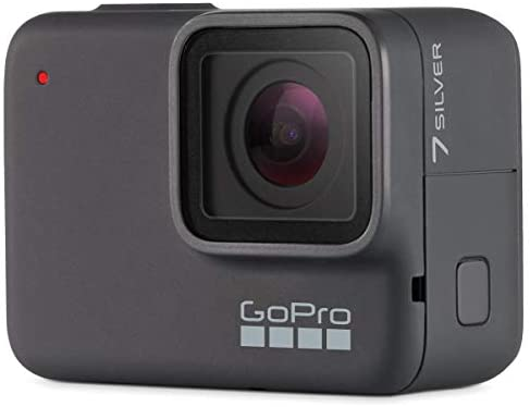 41sqivbn+uL. AC  - GoPro HERO7 Silver - Waterproof Digital Sports and Action Camera with Touch Screen 4K HD Video 10MP Photos, Bundle with Floating Hand Grip, 2 Extra Batteries + 64GB microSD Card + Cleaning Cloth