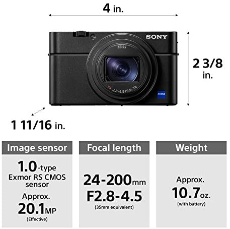 51 27suhZIL. AC  - Sony RX100 VI 20.1 MP Premium Compact Digital Camera w/ 1-inch sensor, 24-200mm ZEISS zoom lens and pop-up OLED EVF