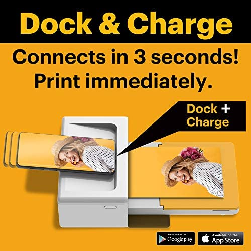 """512jl7X+b9L. AC  - Kodak Dock Plus 4x6"""" Portable Instant Photo Printer, Compatible with iOS, Android and Bluetooth Devices Full Color Real Photo, 4Pass & Lamination Process, Premium Quality - Convenient and Practical"""