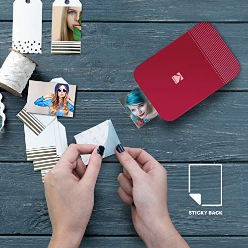 5130avPbMLL. AC  - KODAK Smile Instant Digital Bluetooth Printer for iPhone & Android – Edit, Print & Share 2x3 Zink Photos w/ Smile App (Red)