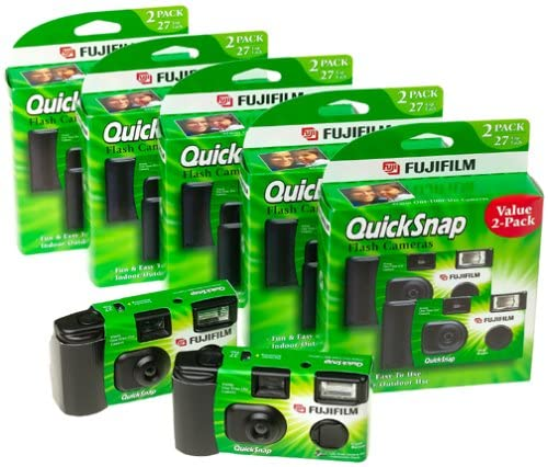 513Z6MYPFML. AC  - Fuji 35mm QuickSnap Single Use Camera, 400 ASA (FUJ7033661) Category: Single Use Cameras (Discontinued by Manufacturer), 10 Count