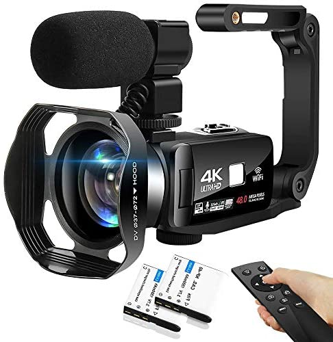 513z+LS9AzL. AC  - 4K Camcorder 48MP 18X Digital Camera WiFi IR Night Vision Video Camera for YouTube 3.0inch HD Touch Screen Vlogging Camera with External Microphone, Stabilizer and Remote Control
