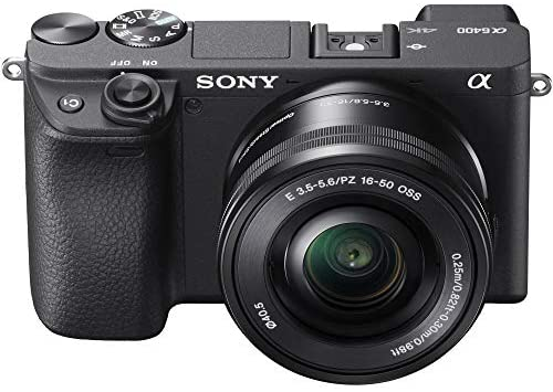 516 D+sy2EL. AC  - Sony a6400 4K Mirrorless Camera ILCE-6400L/B (Black) with 16-50mm f/3.5-5.6 and 55-210mm F4.5-6.3 2 Lens Kit and 0.43x Wide Angle + 2.2X Telephoto + Deco Gear Extra Battery Remote & Flash Bundle