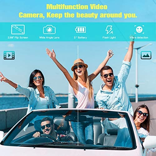"""519FksuO26L. AC  - Lecran Digital Camera, Video Camera FHD 1080P 30FPS 24MP Video Camcorder, YouTube Vlogging Camera with IR Night Vision, 2.88"""" Flip Screen, Speedlite Flash and Wide Angle Lens"""