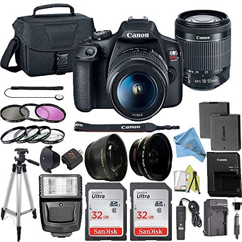 519xCBD1WuL. AC  - Canon EOS Rebel T7 DSLR Camera Bundle with Canon 18-55mm Lens + 2pc SanDisk 32GB Memory Cards + Accessory Kit