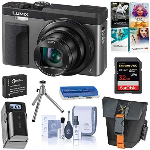 51BCmqfjycL. AC  - Panasonic LUMIX DC-ZS70S, 20.3 Megapixel, 4K Digital Camera, Touch Enabled 3-inch 180 Degree Flip-Front Display, 30X Zoom (Silver), Bag, Extra Battery-Charger, 32GB SD Card, PC Software Kit, Tripod