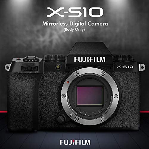 51C0FObBiUL. AC  - Fujifilm X-S10 Mirrorless Digital Camera Body with Sleek Design Accessories Deluxe Bundle with 64GB SD Card, Case, Monopod, Card Reader and More