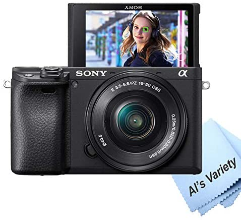 51CqkdCxlsL. AC  - Sony Alpha a6400 Mirrorless Digital Camera with 16-50mm Lens+ 32GB Card, Tripod, Case, and More (18pc Bundle)