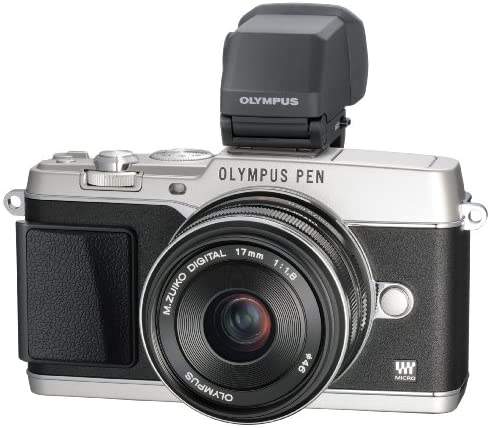 51EJeR8gWSL. AC  - Olympus E-P5 16.1 MP Mirrorless Digital Camera with 3-Inch LCD and 17mm f/1.8 lens (Silver with Black Trim)