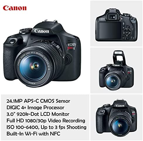 51ERPh1A CL. AC  - Canon EOS Rebel T7 DSLR Camera with 18-55mm is II Lens Bundle + Canon EF 75-300mm f/4-5.6 III Lens and 500mm Preset Lens + 32GB Memory + Filters + Monopod + Professional Bundle (Renewed)