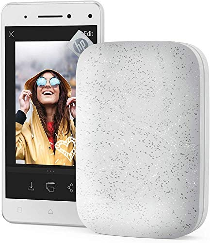 """51FVI4l4RBL. AC  - HP Sprocket Portable 2x3"""" Instant Photo Printer (Luna Pearl) Print Pictures on Zink Sticky-Backed Paper From Your iOS & Android Device"""