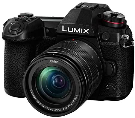 51HDpj9dyFL. AC  - Panasonic LUMIX G9 Mirrorless Camera with LUMIX G Vario 12-60mm Lens with 128GB UHS-II V60 SD Card and KOAH Pro Complete Accessory Starter Bundle (6 Items)