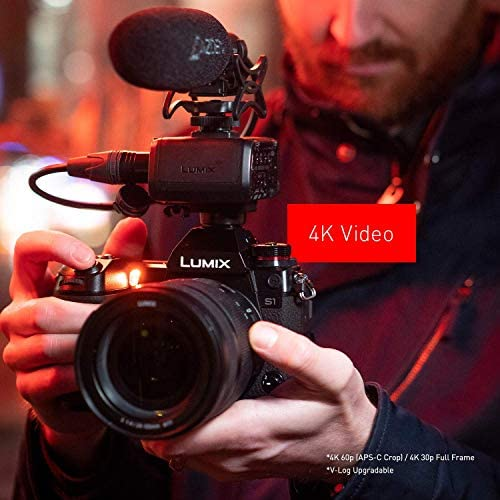 """51HnYVyrtuL. AC  - Panasonic LUMIX S1 Full Frame Mirrorless Camera with 24.2MP MOS High Resolution Sensor, L-Mount Lens Compatible, 4K HDR Video and 3.2"""" LCD - DC-S1BODY"""