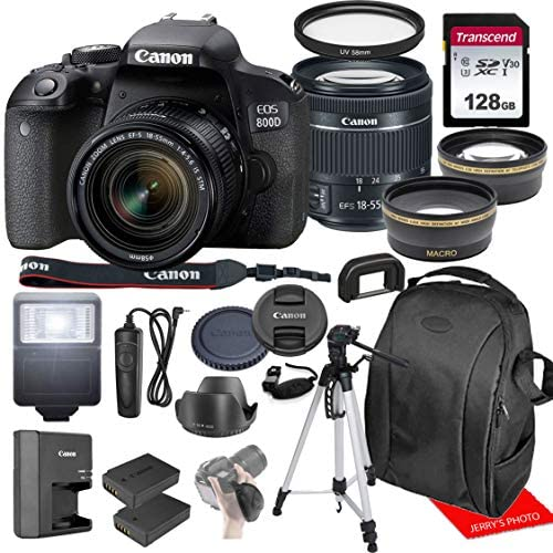51HvlM1O4EL. AC  - Canon EOS 800D / Rebel T7i w/Canon EF-S 18-55mm F/4-5.6 is STM Zoom Lens & Professional Accessory Bundle W/ 128GB Memory Card & Back-Pack Case & Spare Battery & More
