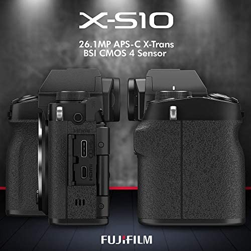 51IQEnUu5UL. AC  - Fujifilm X-S10 Mirrorless Digital Camera Body with Sleek Design Accessories Deluxe Bundle with 64GB SD Card, Case, Monopod, Card Reader and More